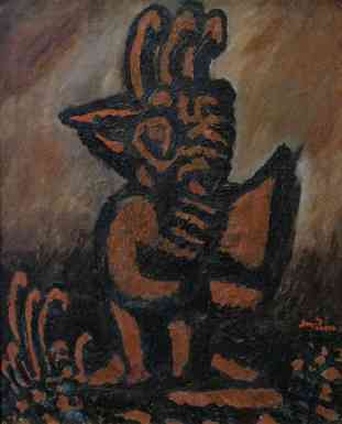 Iron Bird, oil on canvas, 30x24, 1934
