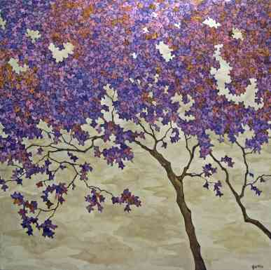 Purple Tree, 47 x 47, Oil on linen