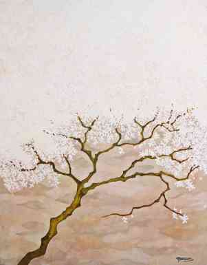 White Tree, 45 x 35, Oil on linen