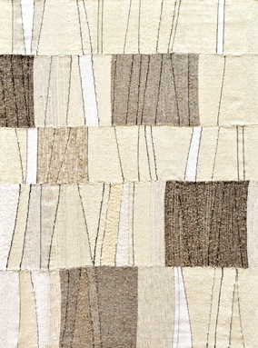 "Quarry 2, wool, alpaca, linen, cotton, silk, 65-1/2"" x 49-1/2"""