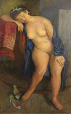 Studio Model, 1927 oil on canvas 48 x 30 in