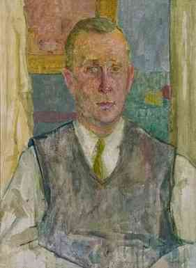 Portrait of Herbert Levine, oil on canvas, 24 x 18, 1958