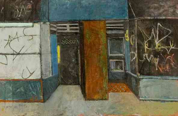 Abandoned Store Front, oil on canvas, 28 x 36, 1980