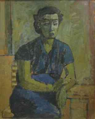 Ruth, oil on canvas, 36x25, 1936