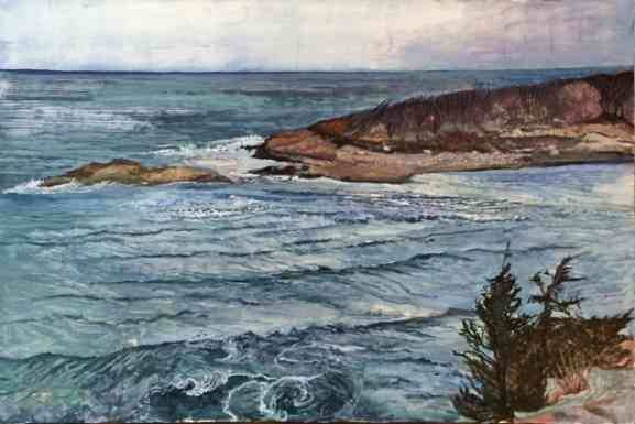 Kettle Cove, After Winter, oil on panel, 24x34