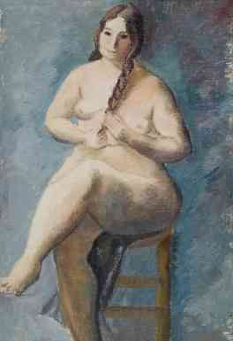 Nude, oil on canvas, 20 x 15, 1927