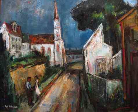 Cleave Street, Rockport, oil on canvas, 16 x 20, 1940